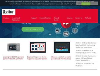 beijerelectronics.com screenshot