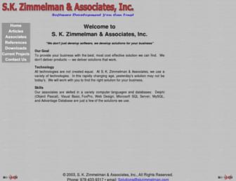 skzimmelman.com screenshot