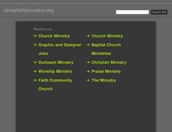 Main page screenshot of crossfaithministry.org