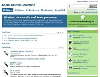 socialsourcecommons.org screenshot