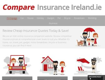 compareinsuranceireland.ie screenshot