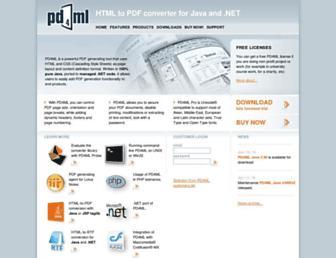 pd4ml.com screenshot