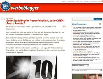 Main page screenshot of werbeblogger.de