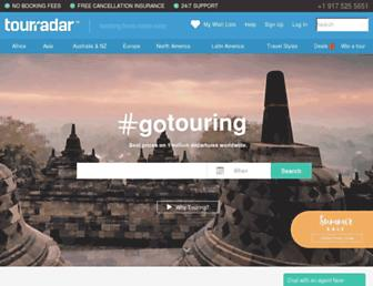 tourradar.com screenshot