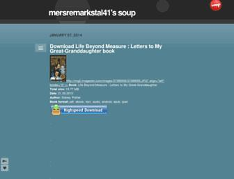 mersremarkstal41.soup.io screenshot