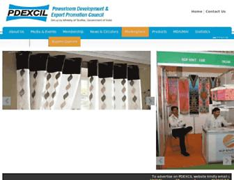 Main page screenshot of pdexcil.org