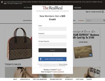 Thumbshot of Therealreal.com