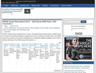govtjobsrecruit.com screenshot