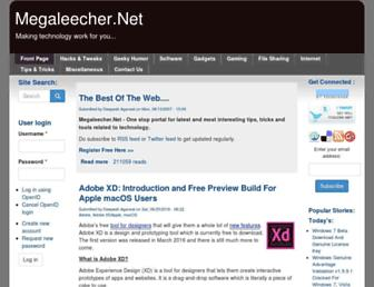 megaleecher.net screenshot