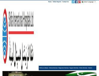 Main page screenshot of shifa.com.pk