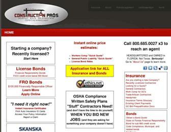 constructionprosins.com screenshot