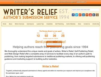writersrelief.com screenshot