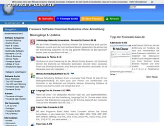 Main page screenshot of freeware-base.de