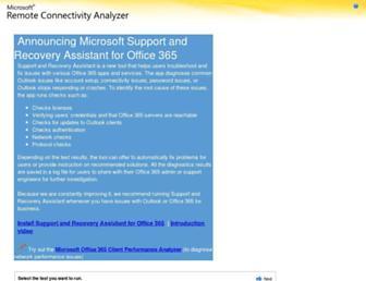 testconnectivity.microsoft.com screenshot
