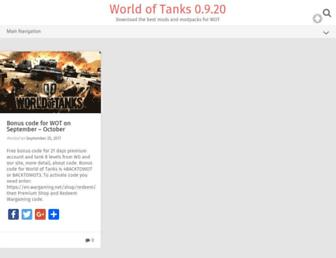 modsforworldoftanks.com screenshot