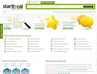 startlocal.com.au screenshot