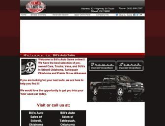 billsautosalesok.com screenshot