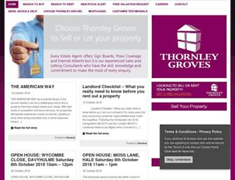 Main page screenshot of thornleygroves.co.uk