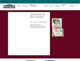 Main page screenshot of polo.lib.il.us