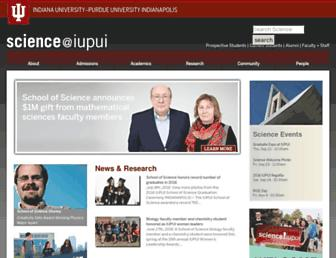 science.iupui.edu screenshot