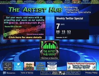 theartisthub.org screenshot