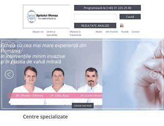 spitalulmonza.ro screenshot