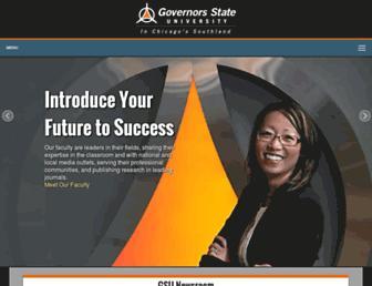 Main page screenshot of govst.edu