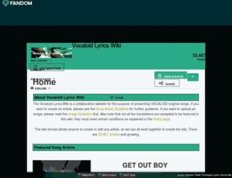 vocaloidlyrics.fandom.com screenshot