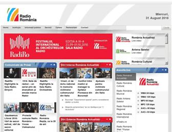Main page screenshot of srr.ro