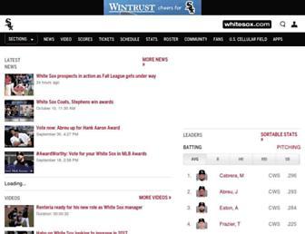 m.whitesox.mlb.com screenshot