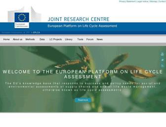 eplca.jrc.ec.europa.eu screenshot