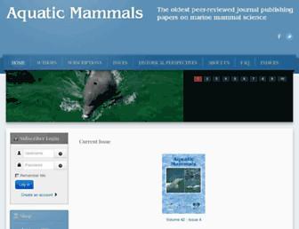 aquaticmammalsjournal.org screenshot