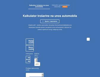 uvozauta.com screenshot
