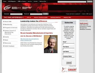 Main page screenshot of on.cme-mec.ca