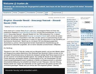 Main page screenshot of trueten.de