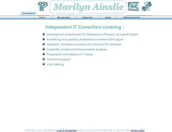 Main page screenshot of ainslie.org.uk