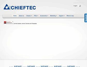 Main page screenshot of chieftec.eu