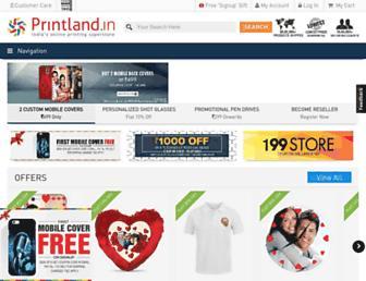 Main page screenshot of printland.in