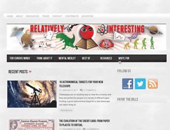 relativelyinteresting.com screenshot
