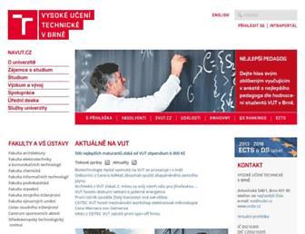 vutbr.cz screenshot