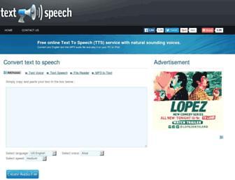 Thumbshot of Fromtexttospeech.com