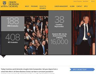 simon.rochester.edu screenshot