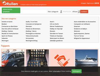 Main page screenshot of ruilen.nl