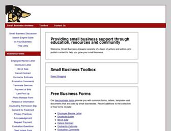 smallbusinessanswers.com screenshot