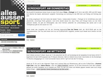 Main page screenshot of allesaussersport.de