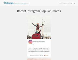 pictaram.com screenshot