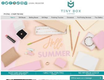 tinyboxcompany.co.uk screenshot
