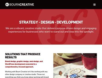 bourncreative.com screenshot