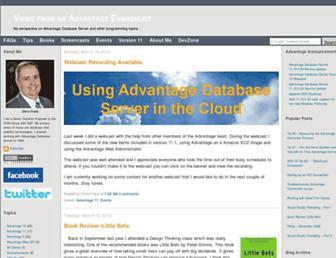 blog.advantageevangelist.com screenshot