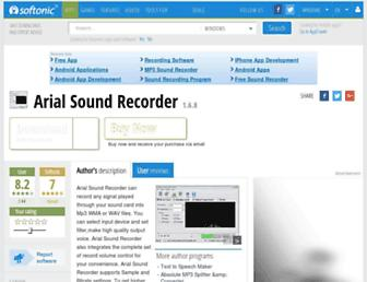 arial-sound-recorder.en.softonic.com screenshot